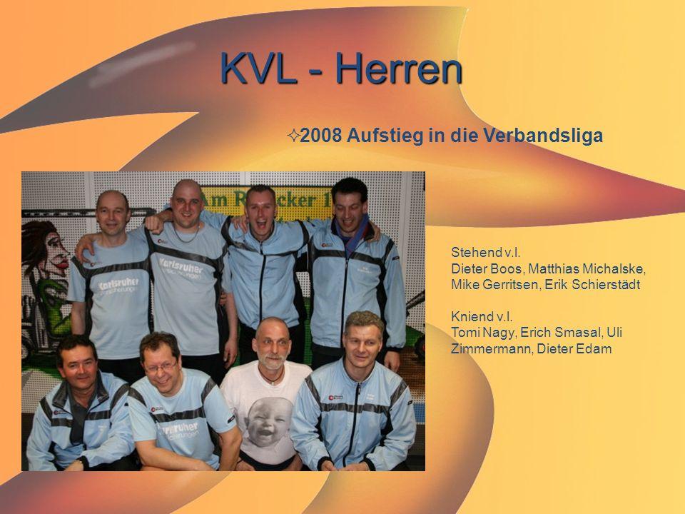 KVL - Herren 2008 Aufstieg in die Verbandsliga Stehend v.l.