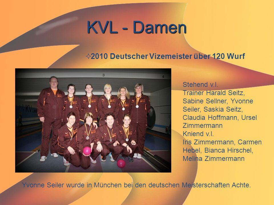 KVL - Damen 2010 Deutscher Vizemeister über 120 Wurf Stehend v.l.