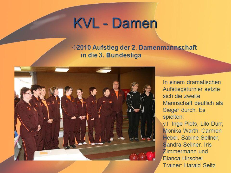 KVL - Damen 2010 Aufstieg der 2. Damenmannschaft in die 3. Bundesliga
