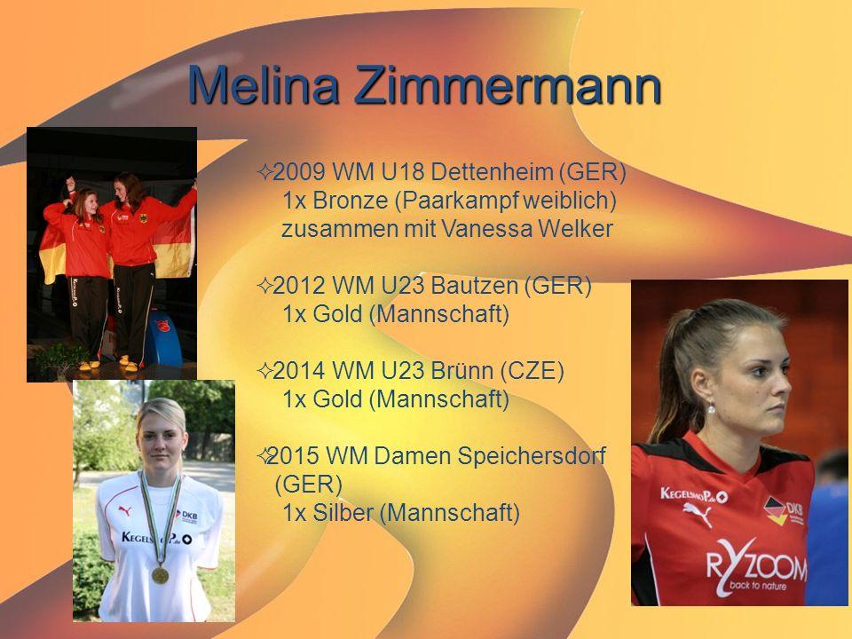 Melina Zimmermann 2009 WM U18 Dettenheim (GER)