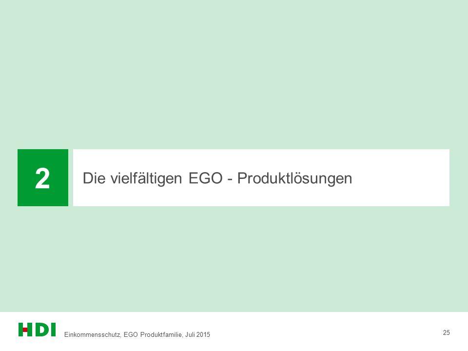 2 Die vielfältigen EGO - Produktlösungen