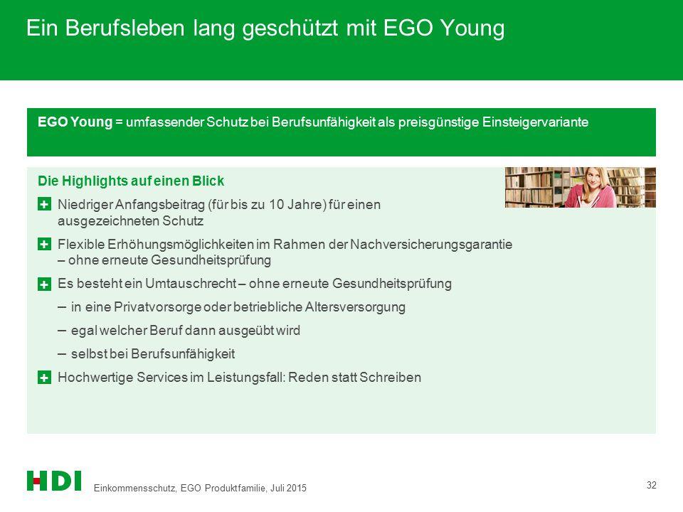 Ein Berufsleben lang geschützt mit EGO Young