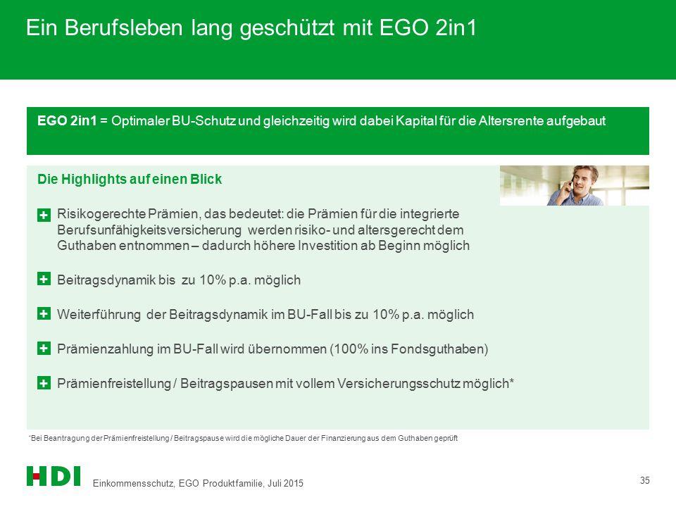 Ein Berufsleben lang geschützt mit EGO 2in1
