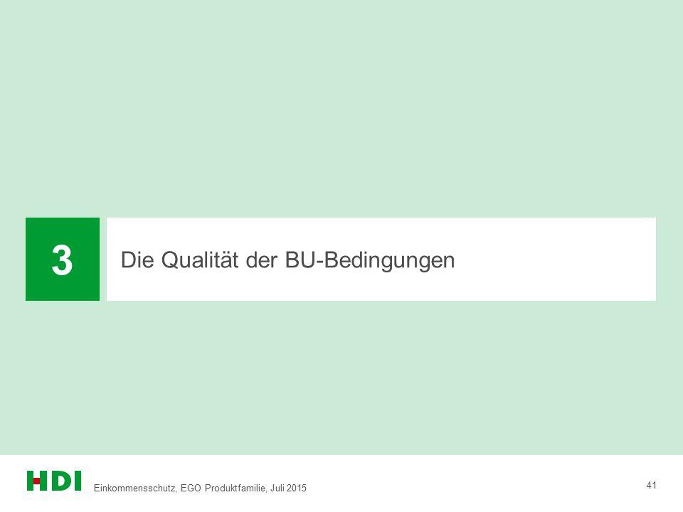 3 Die Qualität der BU-Bedingungen