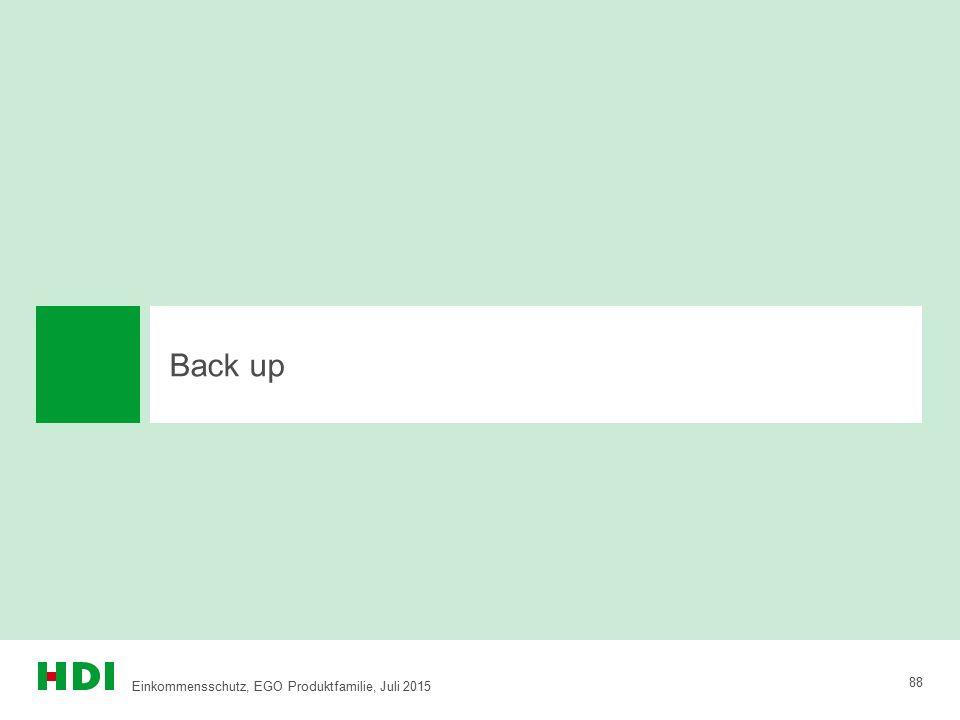 Back up Einkommensschutz, EGO Produktfamilie, Juli 2015