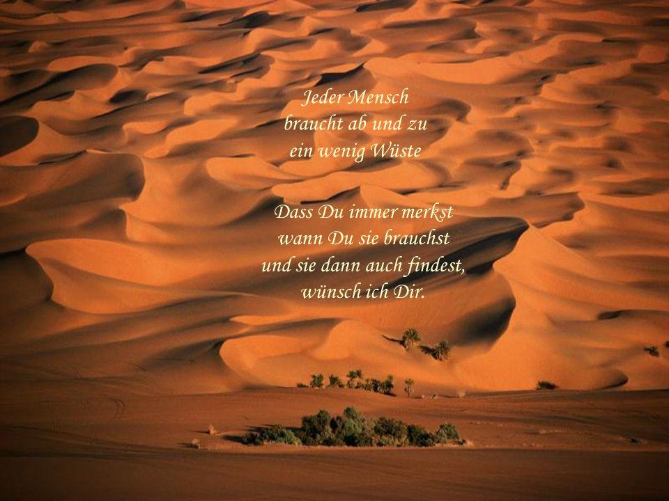 Jeder Mensch braucht ab und zu ein wenig Wüste