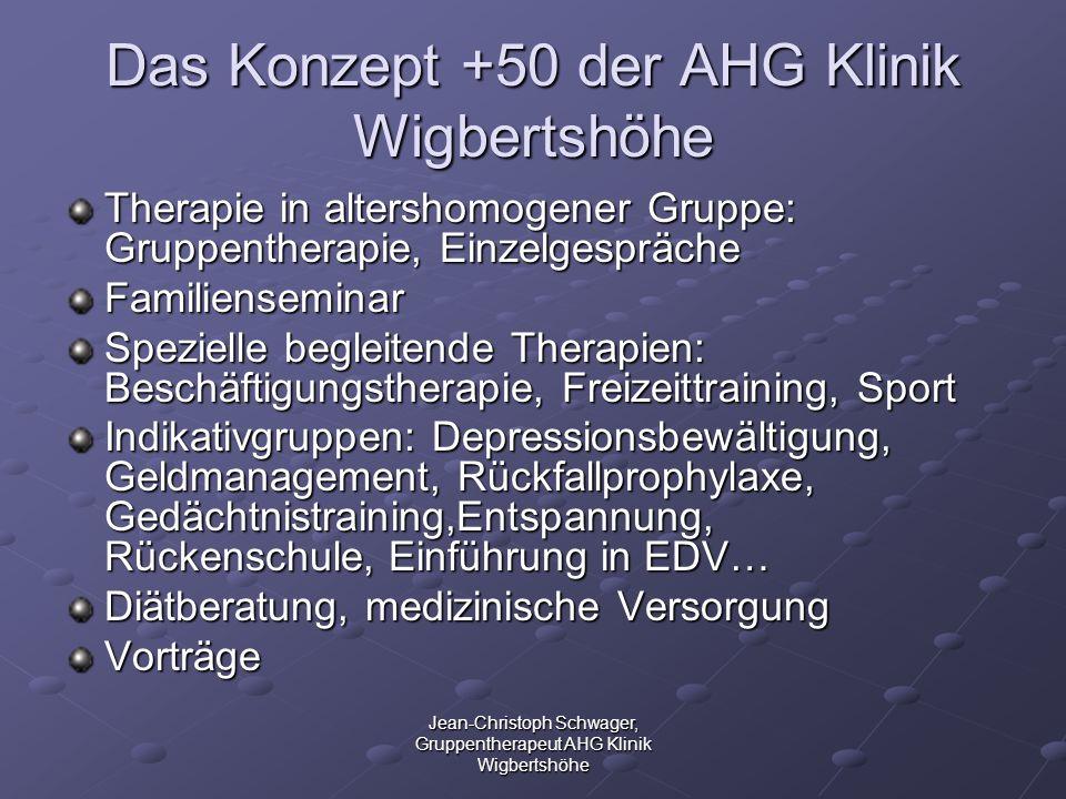 Das Konzept +50 der AHG Klinik Wigbertshöhe