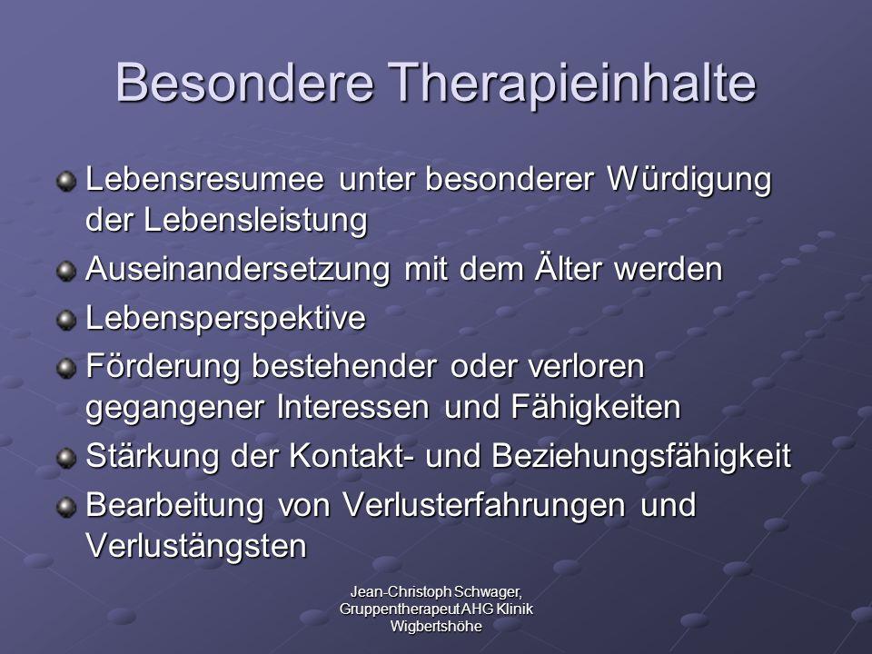 Besondere Therapieinhalte