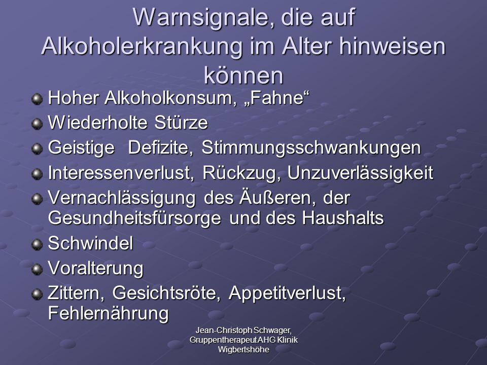 Warnsignale, die auf Alkoholerkrankung im Alter hinweisen können