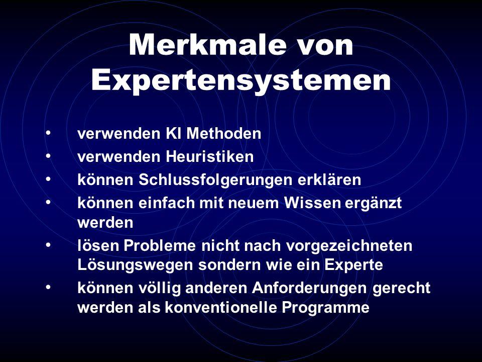 Merkmale von Expertensystemen