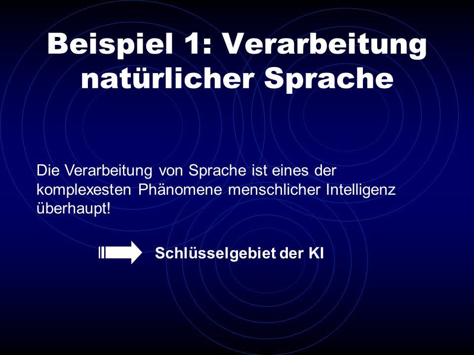 Beispiel 1: Verarbeitung natürlicher Sprache