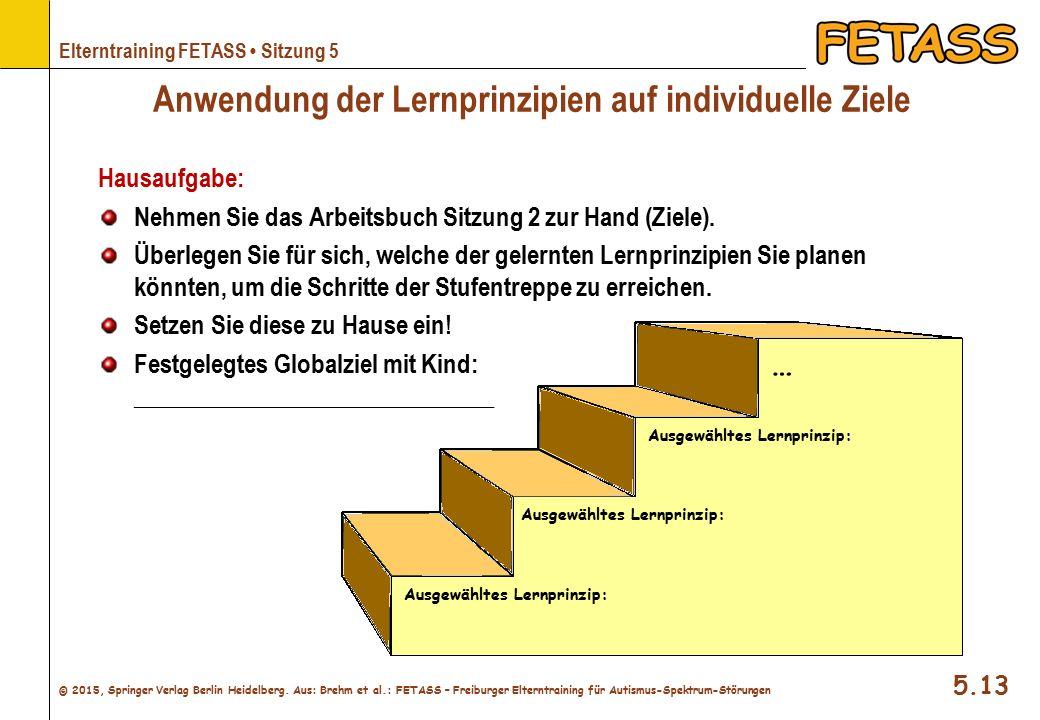 Anwendung der Lernprinzipien auf individuelle Ziele