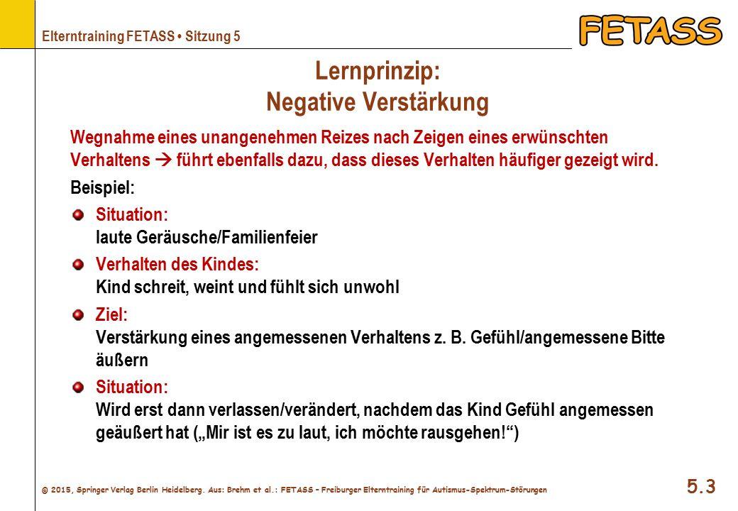 Lernprinzip: Negative Verstärkung