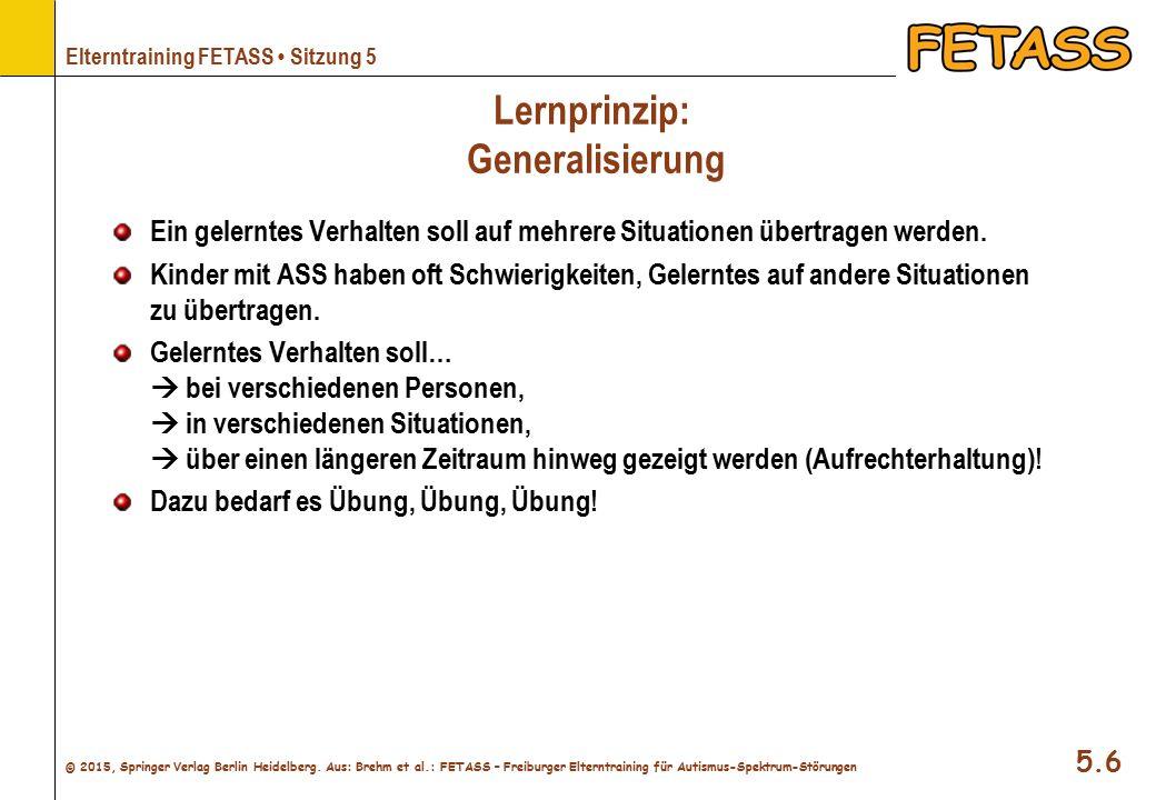 Lernprinzip: Generalisierung