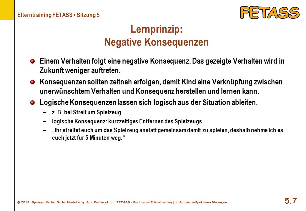 Lernprinzip: Negative Konsequenzen
