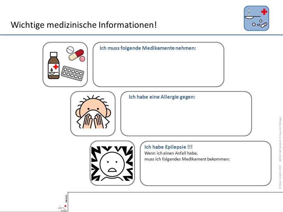 Wichtige medizinische Informationen!