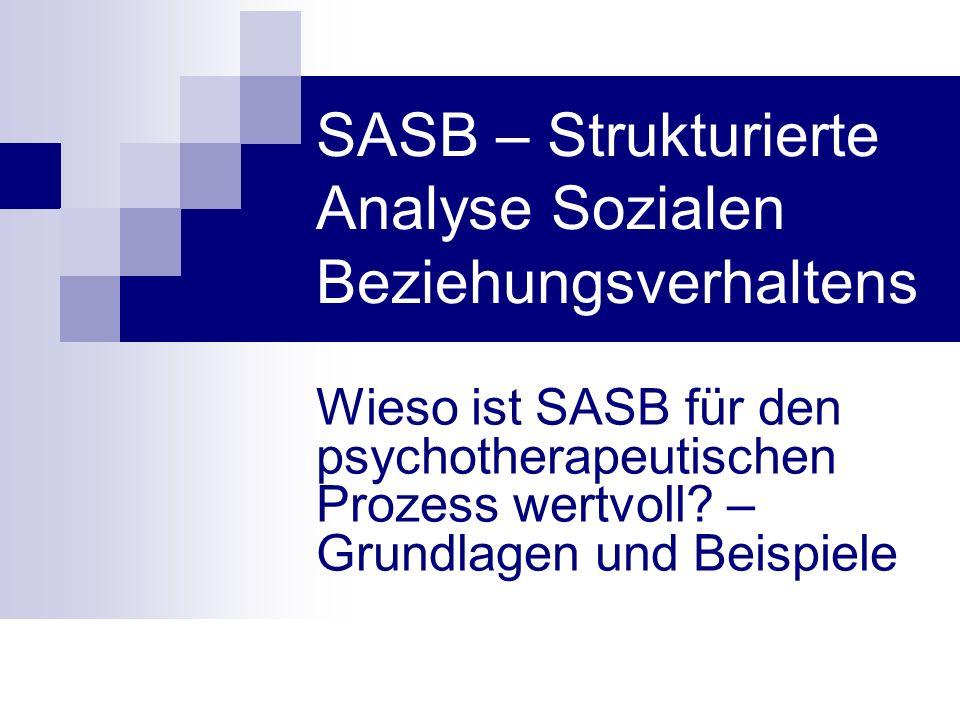 SASB – Strukturierte Analyse Sozialen Beziehungsverhaltens