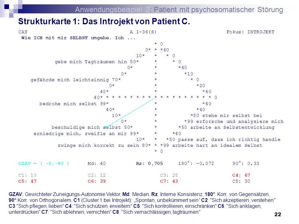 Strukturkarte 1: Das Introjekt von Patient C.