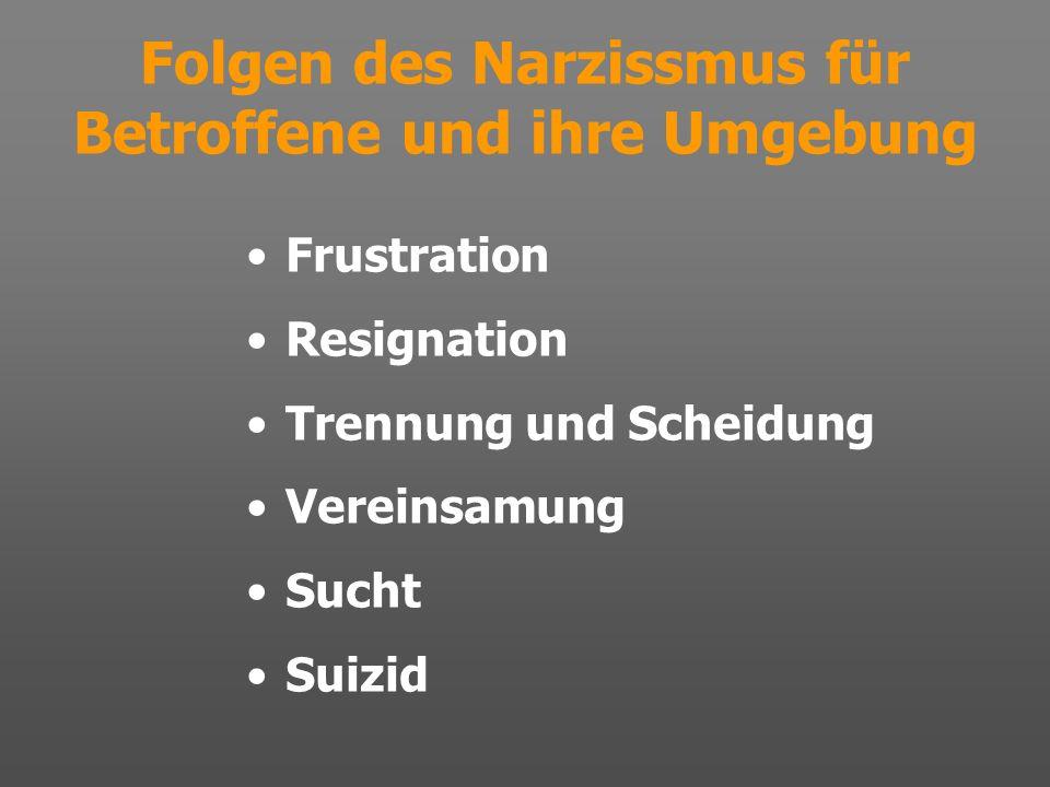 Folgen des Narzissmus für Betroffene und ihre Umgebung