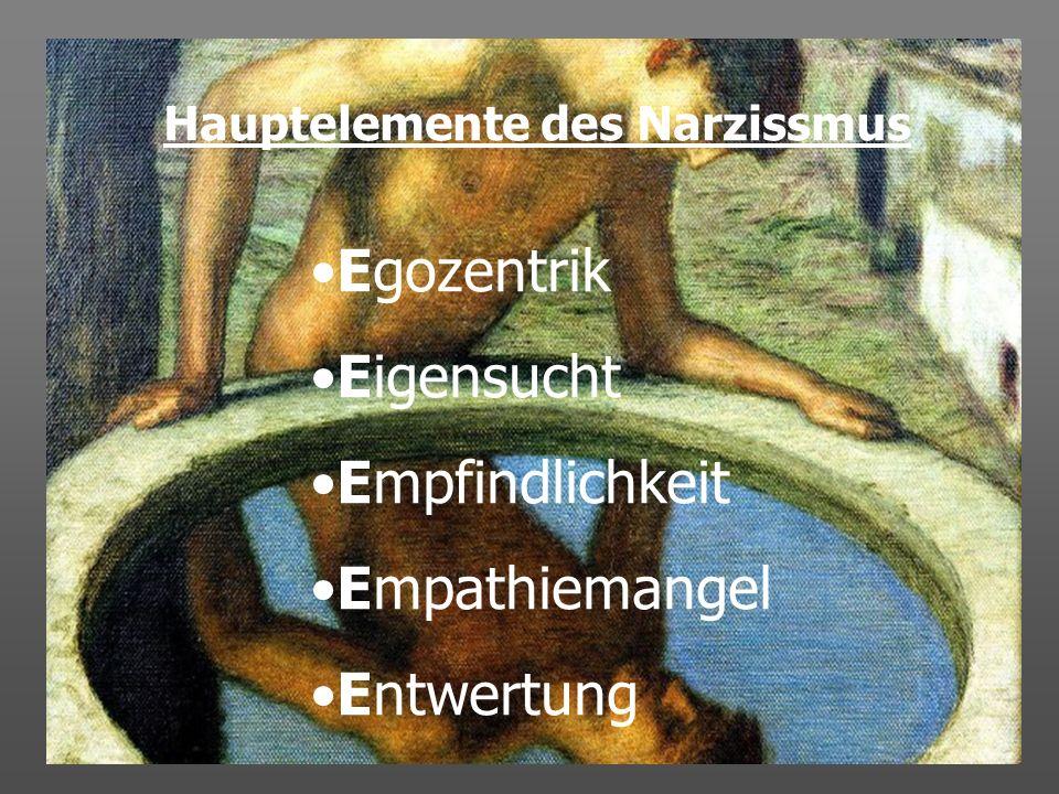 Hauptelemente des Narzissmus