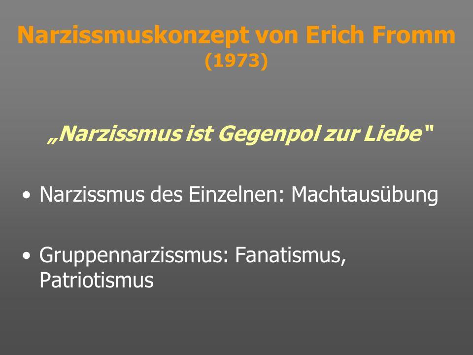 Narzissmuskonzept von Erich Fromm (1973)