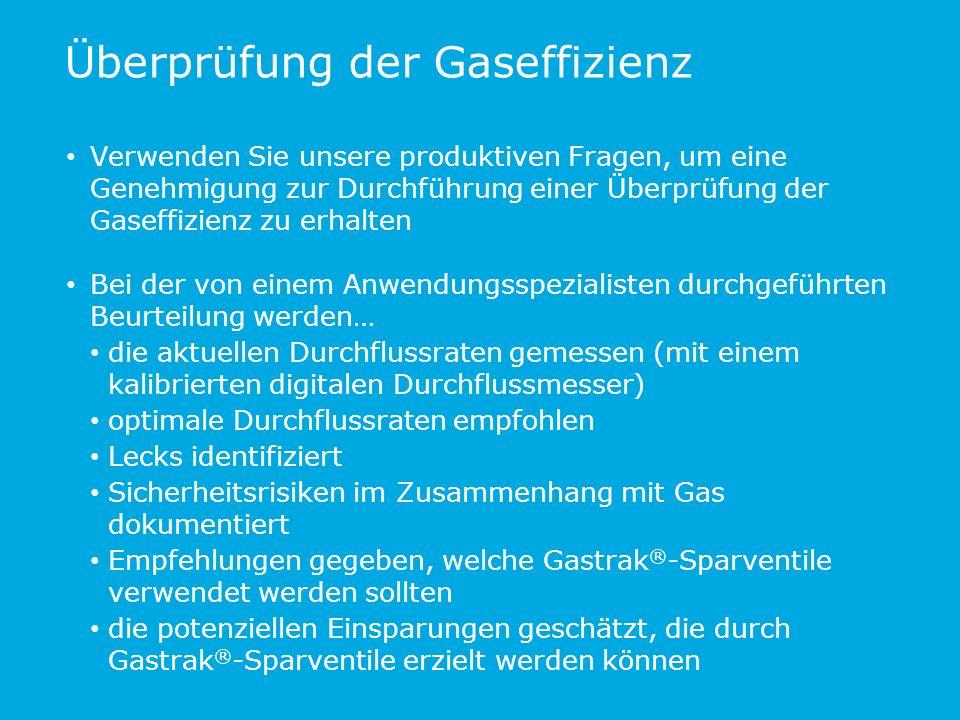 Überprüfung der Gaseffizienz