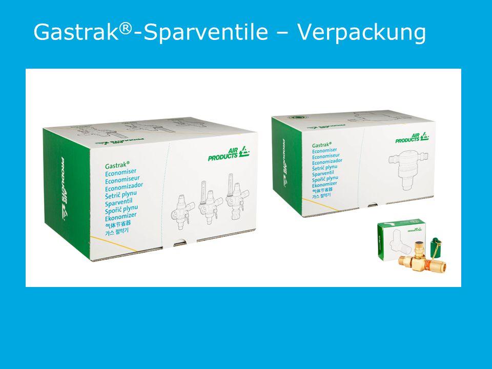 Gastrak®-Sparventile – Verpackung