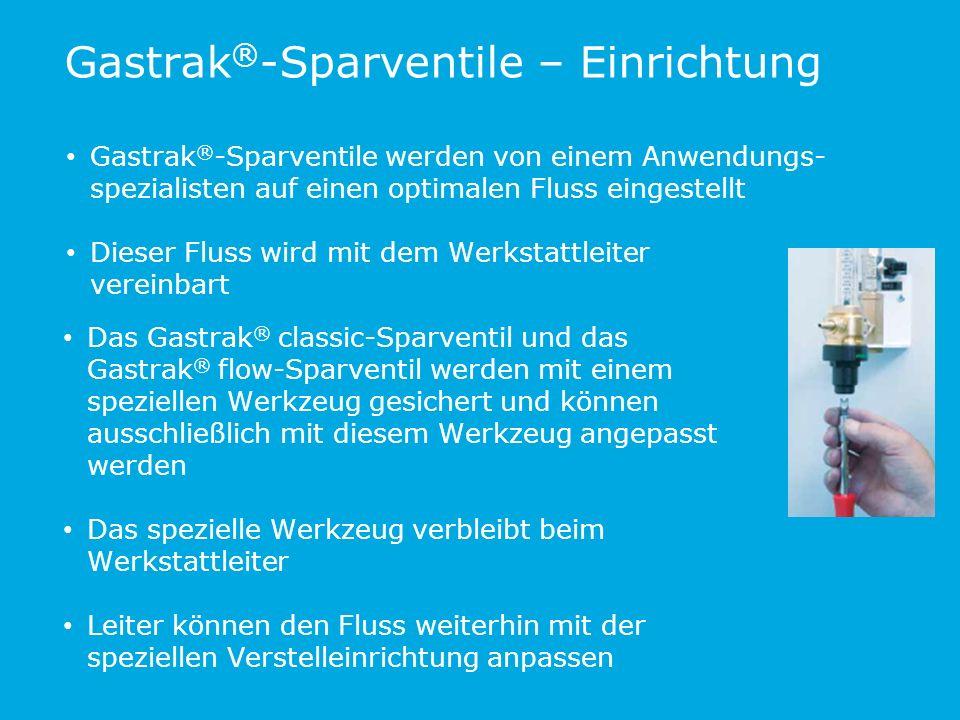 Gastrak®-Sparventile – Einrichtung