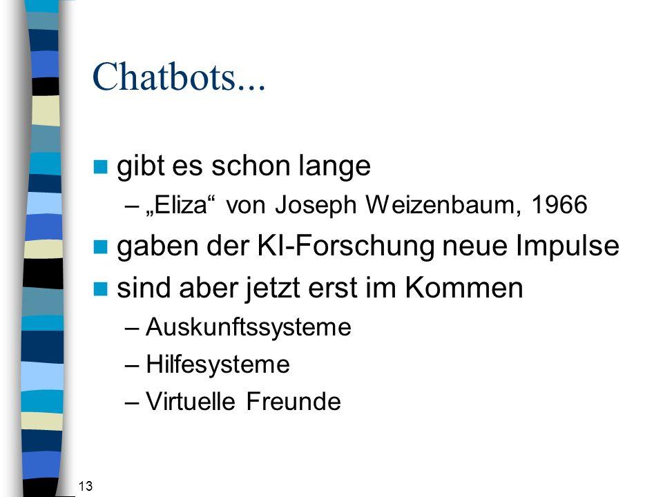 Chatbots... gibt es schon lange gaben der KI-Forschung neue Impulse