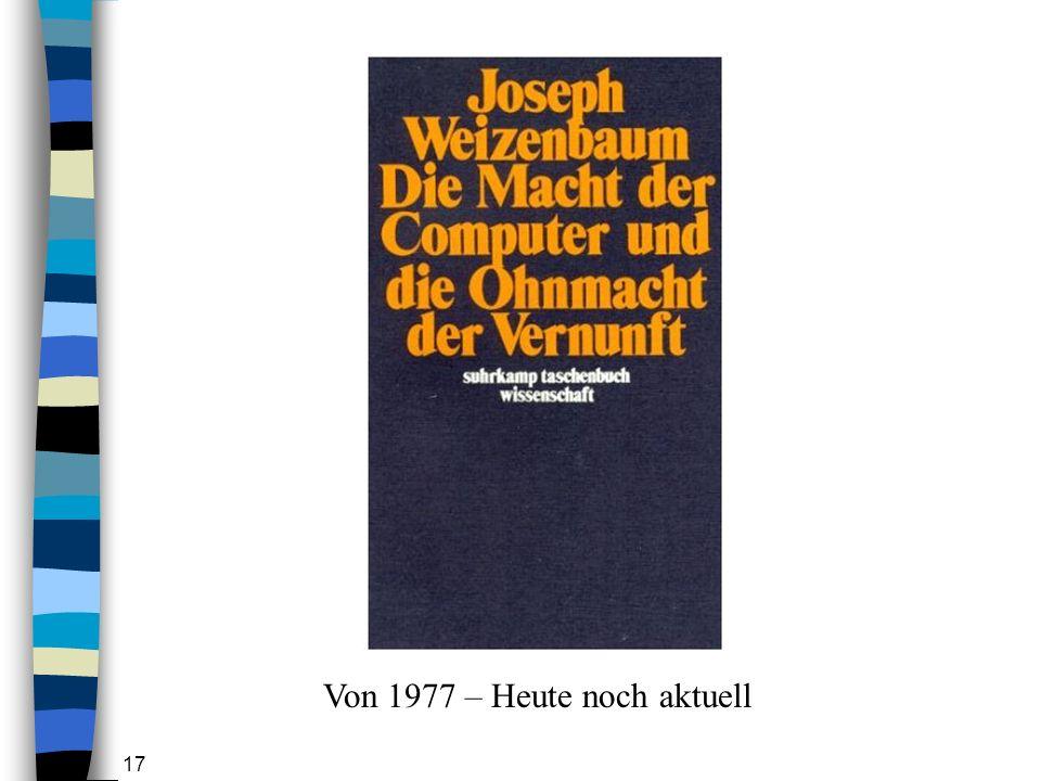 Von 1977 – Heute noch aktuell