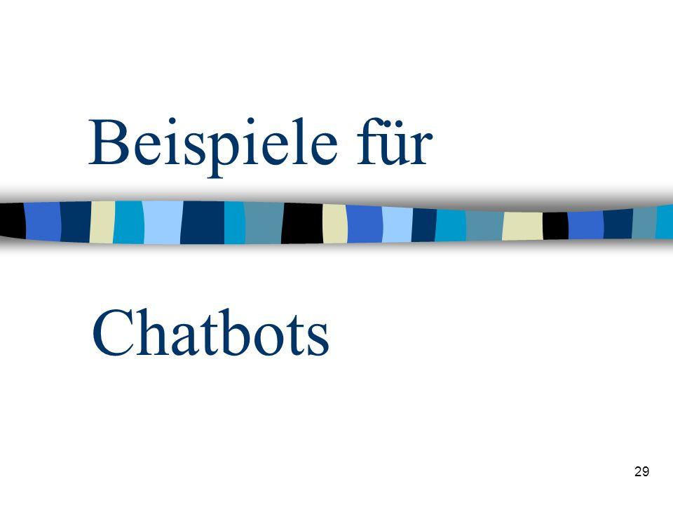 Beispiele für Chatbots