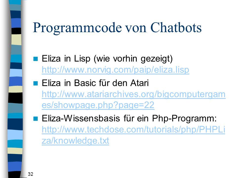 Programmcode von Chatbots