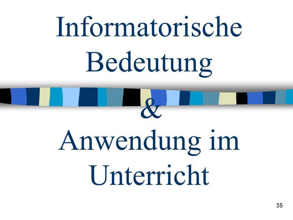 Informatorische Bedeutung