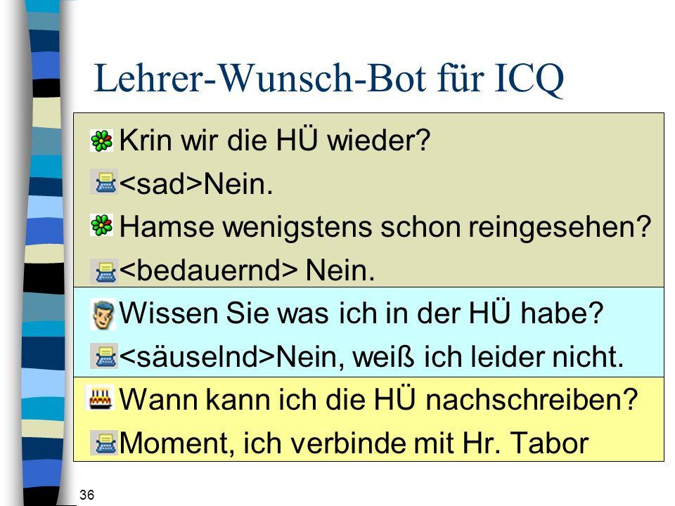 Lehrer-Wunsch-Bot für ICQ