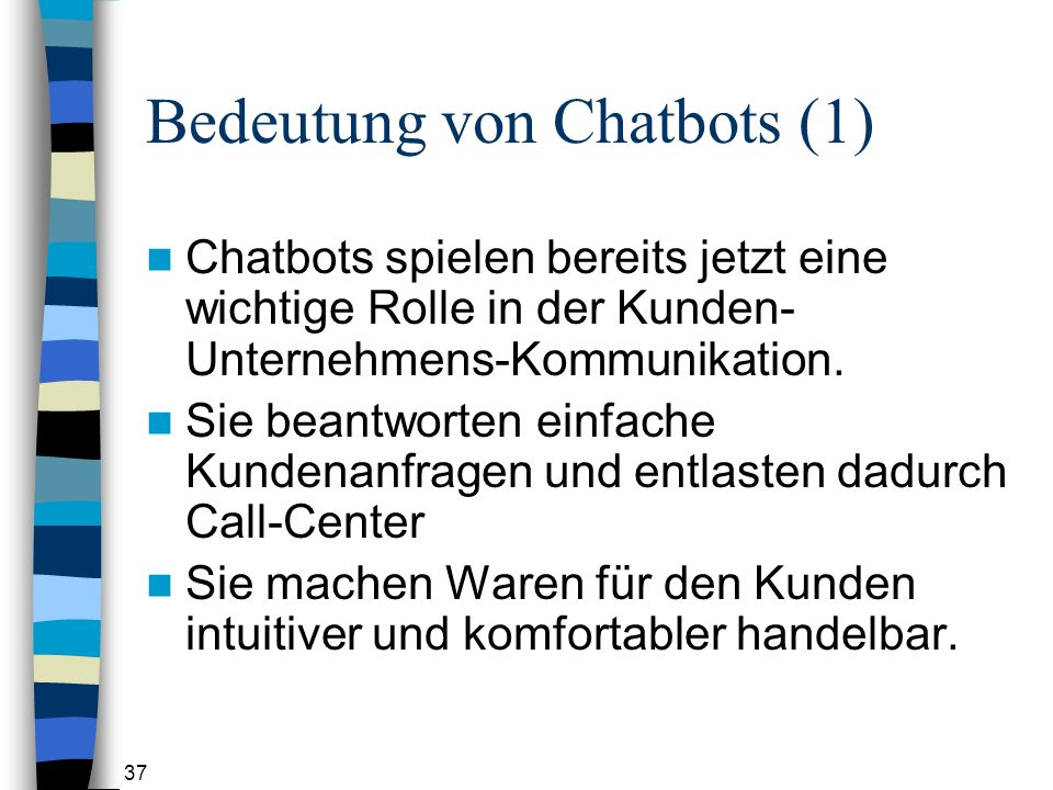 Bedeutung von Chatbots (1)