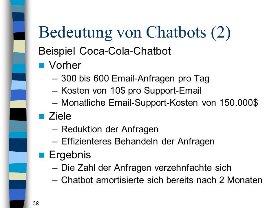 Bedeutung von Chatbots (2)