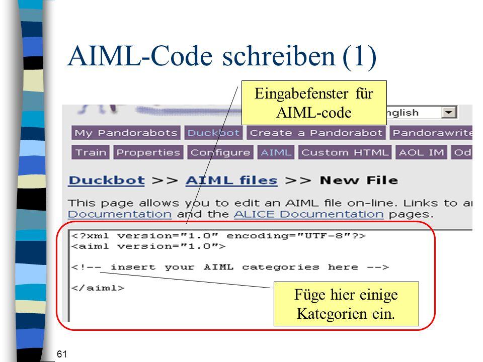 AIML-Code schreiben (1)