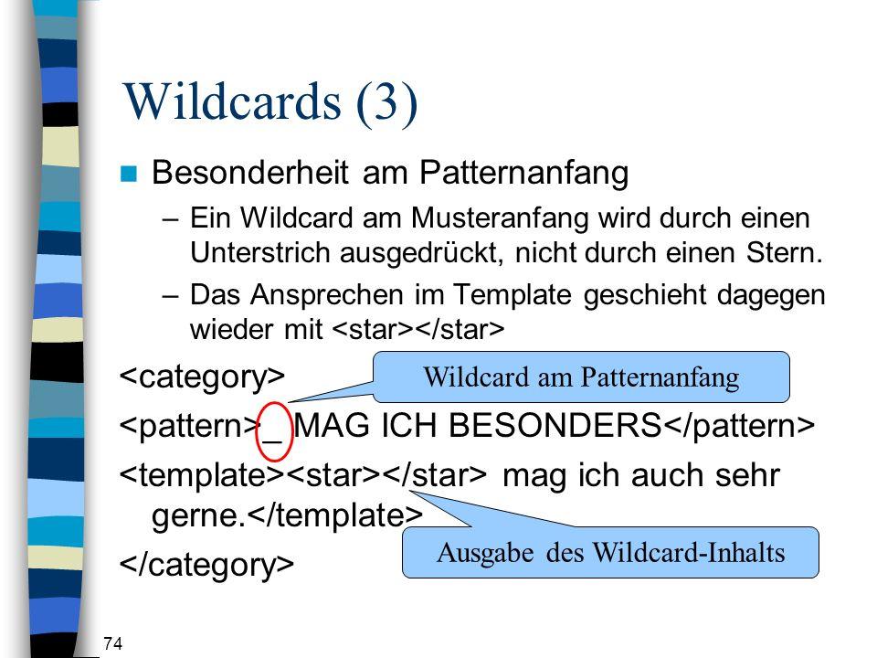 Wildcards (3) Besonderheit am Patternanfang <category>
