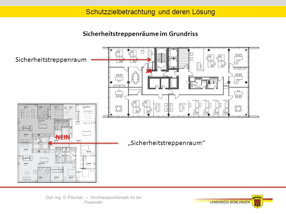 Dipl.-Ing. G. Plischek, -- Hochhausproblematik für die Feuerwehr