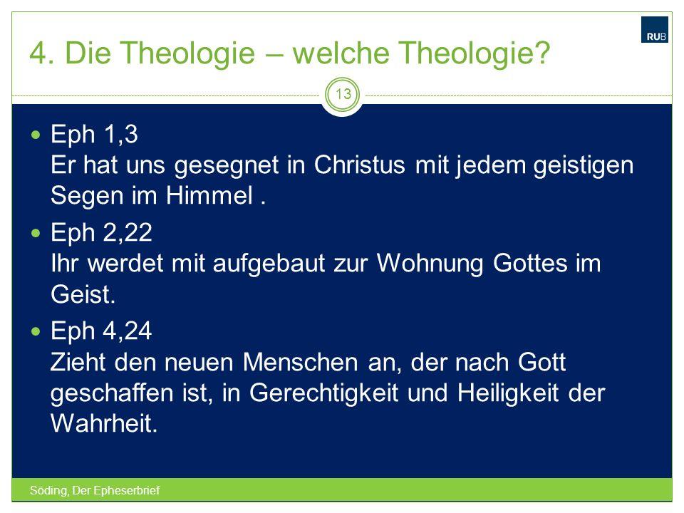 4. Die Theologie – welche Theologie
