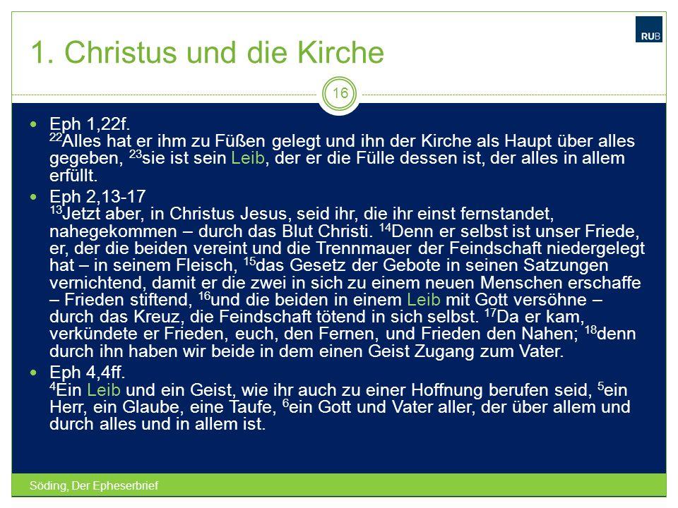 1. Christus und die Kirche