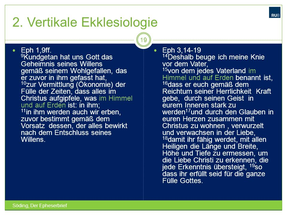 2. Vertikale Ekklesiologie