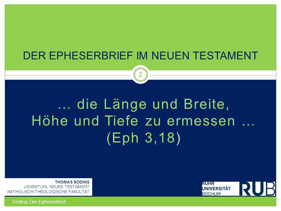 Der Epheserbrief im Neuen Testament