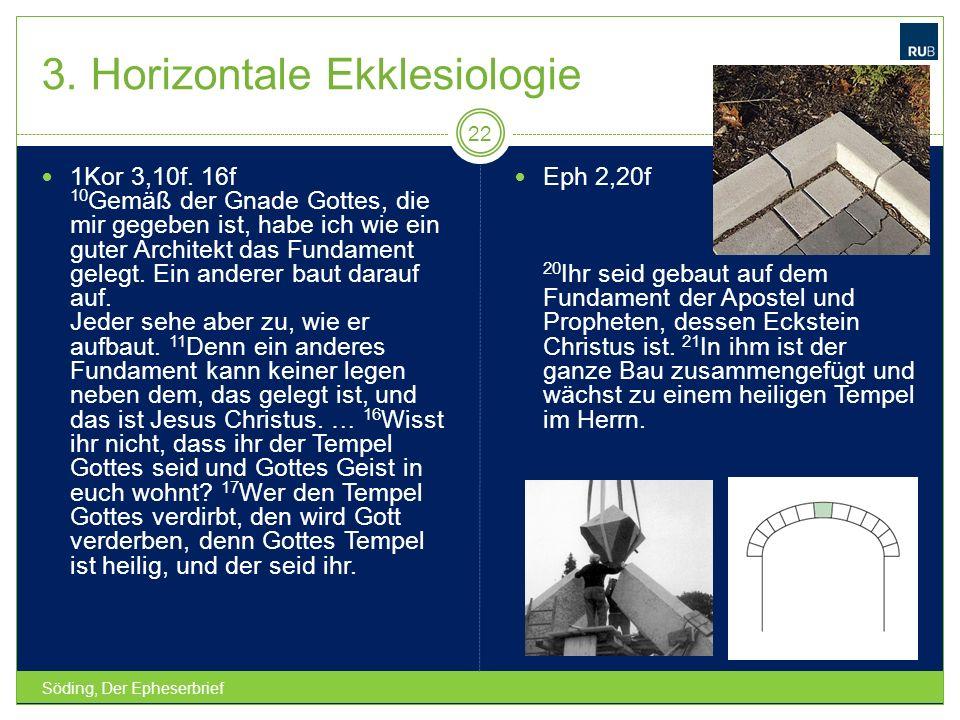 3. Horizontale Ekklesiologie