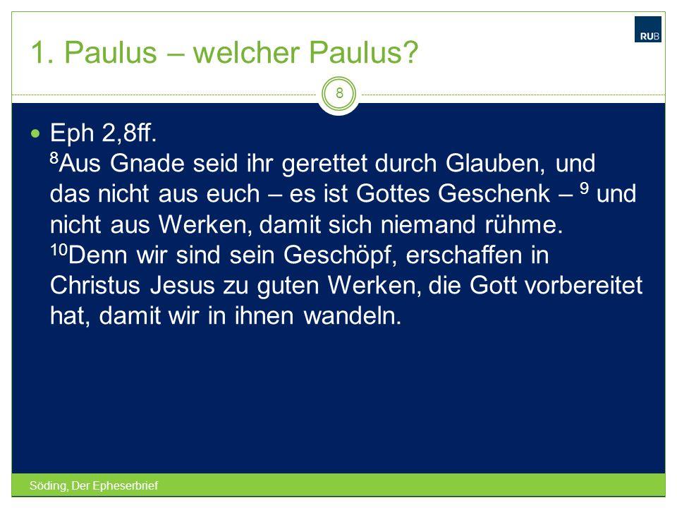 1. Paulus – welcher Paulus