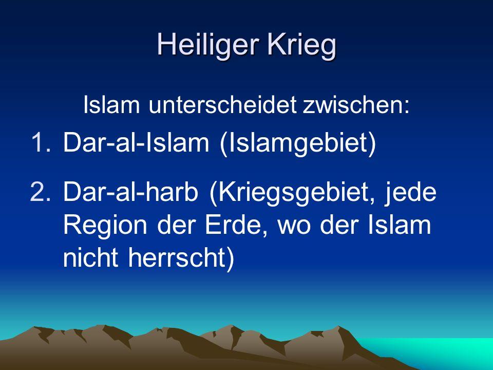Islam unterscheidet zwischen: