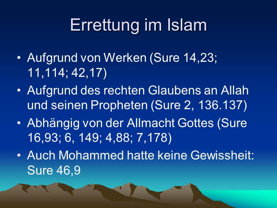 Errettung im Islam Aufgrund von Werken (Sure 14,23; 11,114; 42,17)