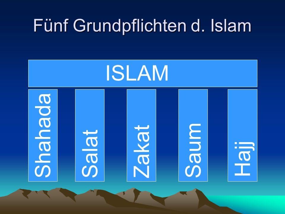 Fünf Grundpflichten d. Islam