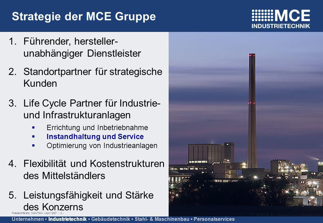 Strategie der MCE Gruppe