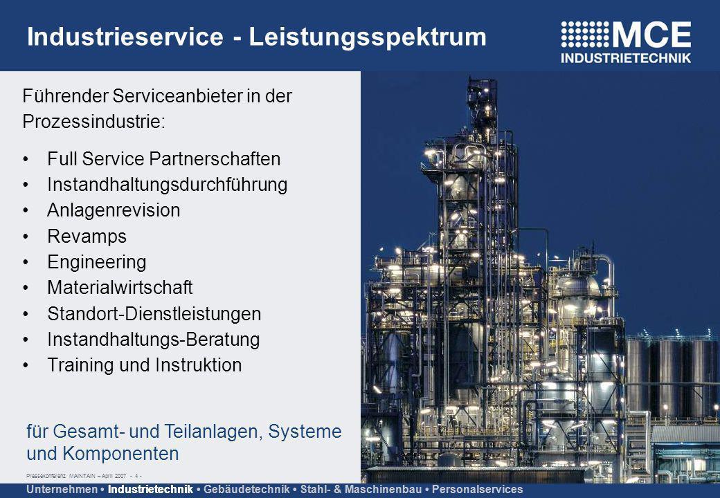 Industrieservice - Leistungsspektrum